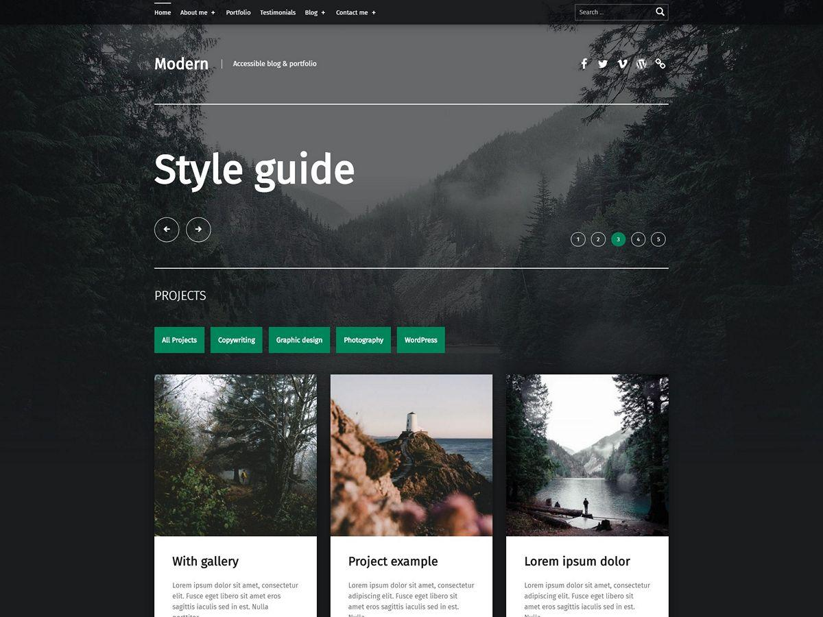 Modern WordPress theme